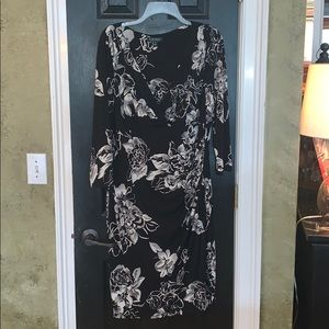 Beautiful Ralph Lauren faux wrap midi dress 16